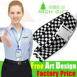 Wholesale Custom Personalized Screen Printed Polyester Elastic/Leather/Hook & Loop/Sublimation/Nylon/PP/Travel Luggage Tag Belt Strap with Metal Buckle