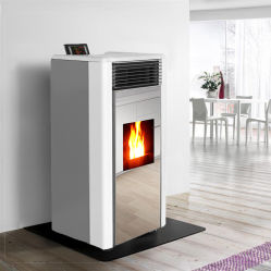 Two Door Design Biomass Stove Wood Pellet Fireplace