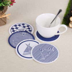 Customized Design Two Sides Printed Paper Drink Cardboard Coasters (YH-DC018)