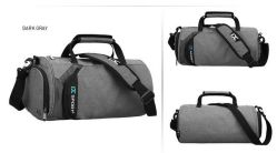 High Quality Polyester Sport Duffel Bag Gym with Shoe Compartment