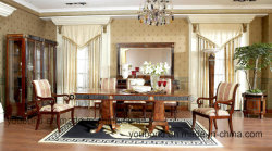 Spain Classical Luxury Solid Wood Hand Carved Dining Room Furniture Sets