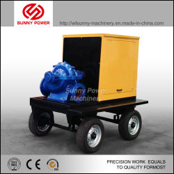 10inch Diesel Water Pump for Mining/Flood Drainage with Trailer
