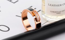 Top Quality Classic Cubic Zirconia Wedding Ring Rose Gold Color CZ Austrian Crystals Wholesale
