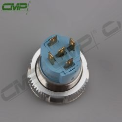CMP Waterproof Stainless Steel No Nc 16mm Push Button Switch with LED