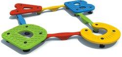 Outdoor Playground ABC Single-Plank Plastic Bridge (HD17-299D)