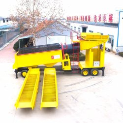 100tph Alluvial Brazil Gold Mining Equipment with Best Gold Refinery Sluice Box