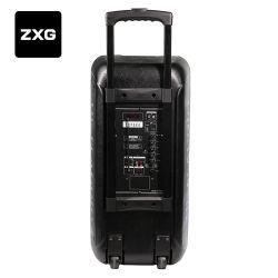 Portable DJ Active Amplifier Trolly USB Rechargeable Battery Wireless Hi Fi Karaoke Speaker Cabinet Guitar Home Theatre Speakers Line Array System Audio Mixer