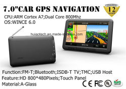 "OEM&ODM 7.0"" Handheld in-Dash Portable Car GPS Navigation with Wince 6.0, Cortex A7, Bluetooth Handsfree, AV-in Rear View Camera, 8GB, Navigator Tacker, ISDB-TV"