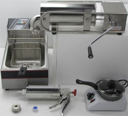 High Capacity Sliver Extrusion Molding Industrial Churro Maker with Molds