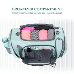 Travel Duffel Backpack Luggage Gym Sports Bag with Shoe Compartment