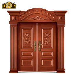 Nice Cayoe Luxurious Front Main Entrance Aluminum Doors Design