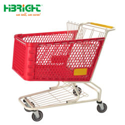 2018 Wholesale Foldable Plastic Shopping Trolley for Supermarket