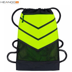 Factory Custom Small Drawstring Swimming Mesh Bag for Sport Gym Outdoor