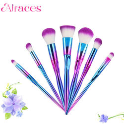 7PCS Best Price Colorful Unicorn Makeup Brush Cosmetic Set