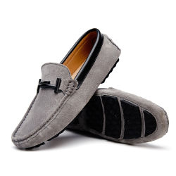 e61251b0 Slip on Casual Shoes for Men, Breathable Leather Loafers Mocassin, Suede Leather  Driving Man
