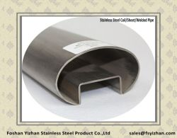Wholesale 40X80X24X24X1.0mm Oval Stainless Steel Slot Tube for Glass Clamping