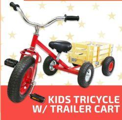 3 Wheel Kids Garden Tools Tricycle Bicycle Bike Cart &Wagon Combo