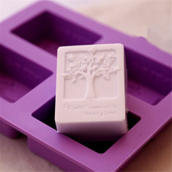 Sy3-04-008 Square Shape Tree Texture Silicone Molds for Soap Making
