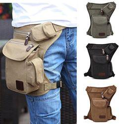Outdoor Sport Leg Bag Canvas Waist Bag Money Belt