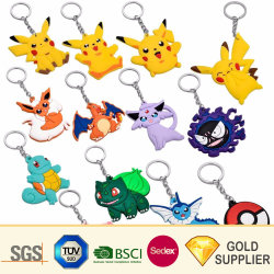 Free Sample Custom Digital Printed Light Keyring Multi-Functional Cartoon Animal Car Key Holder Flashlight Reflective Plastic Jersey PVC LED Keychain