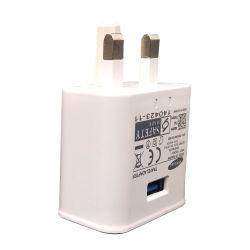 OEM Logo Universal 5V 2A (2000mA) UK 3 Pin USB Mains Charger Adapter Wall Plug AC Switching Power