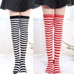 30f92480a Girls Student School Socks Fashion Stockings Casual Thigh High Over Knee  High Socks Girls Womens Female
