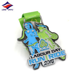 Longzhiyu 13 Years China Supplier High Quality Custom Marathon Medal Metal Medal 3D Sport Running Medal Professional Producer