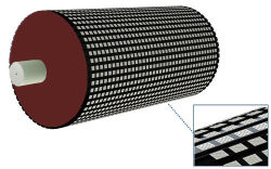 Rubber Composite Wear Liner Plates for Wear Solution (size: 500*500*30mm)
