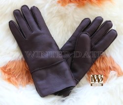 7cb9057cc60df Merino Sheepskin/Lamb Wool/ Fur/Leather/Shearling Fashion Nappa Patch Sheepskin  Glove