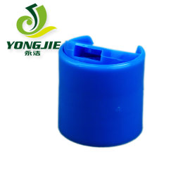 28-410 Blue PP Smooth Wall Disc Top Cap