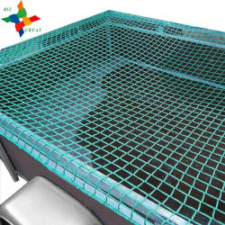Container Nets Individually Made to Measure with Reinforced Selvage Cord