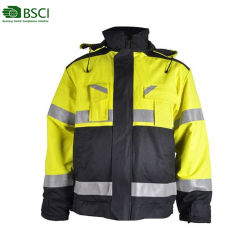 6faa725acb4 Custom Mens Hooded Winter Jackets Anti-Static Waterproof Reflective Police  Duty Workwear Uniform