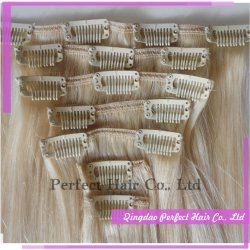 Color Can Be Customized Clip in Hair Extensions