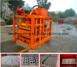 Qtj4-40simple Semiautomatic Concrete Block Making Machine, Building Material Brick Machinery
