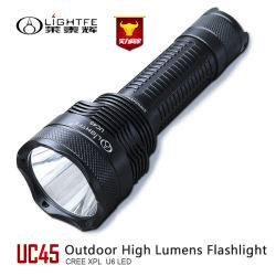 USB Rechargeable Flashlight for Hunting, Ipx-8 Waterproof and 800 Lumens Emergency Torch Flashlight for Professional Searching and Rescuing,