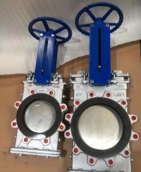 Ductile Iron Ggg40 Slurry Knife Gate Valve Natural Rubber Lined/Sleeve for Heavy Duty