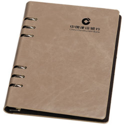 Loose Leaf PU Leather Notebook Diary Hardcover Notebook Printing  Print Loose Leaf Paper