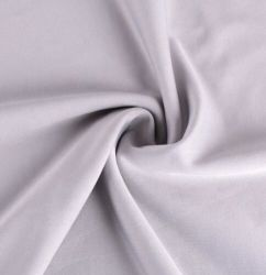 Brand New Best Elastane Polyester Grey Dyed Jersey Fabric with High Quality