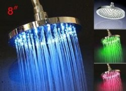 "6 ""Square High Flow Temperarure Control LED Light Top Shower"