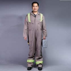 100% Cotton Zip Front Long Sleeve Safety Workwear (BLY1003)