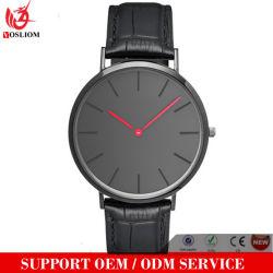 Vs-011 Custom Logo Wholesale Leather Strap Women and Men Wrist Quartz Watches