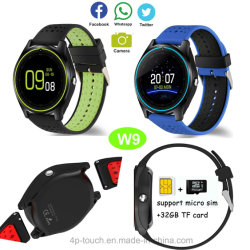 Hot Selling Smart Bluetooth Watch Phone with Round Screen W9
