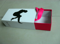 Artboard Shoe Box with Liner with House Shap