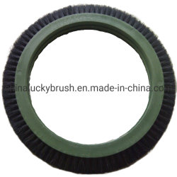 Black Bristle Bruckner Big Wheel Textile Brush (YY-739)