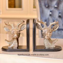 Vintage Style Handmade Stag Polyresin Bookends Book Support