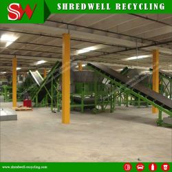 Scrap Tyre Recycling for Used/Waste Tire to 50mm Rubber Chips