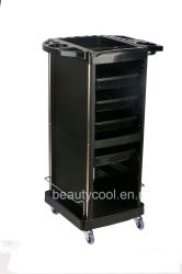 Heavy Duty Steel Frame Beauty Salon Rolling Plastic Trolley Cart with 4 Drawers