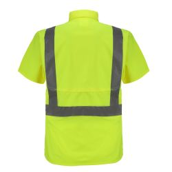 Protective Clothing Security Cycling Construction Reflective Safety Sport Shirt