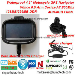 "New Waterproof 4.3"" Car Bike motorcycle Outdoor Action Truck Marine GPS Navigation with GPS Navigator Map, Bluetooth Headset, Handheld GPS Navigation System"