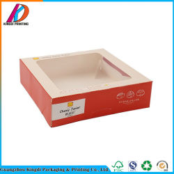 Paper Food Packaging Box with PVC Window for Puff